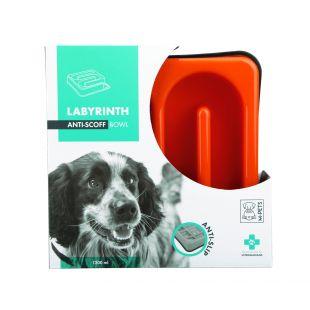 M-PETS Gyvūnų lėto maitinimo dubenėlis labirintas, oranžinis