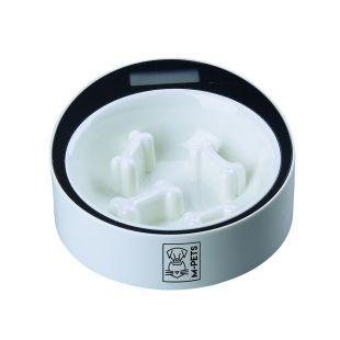 M-PETS Gyvūnų lėto maitinimo dubenėlis su el. svarstyklėmis baltas