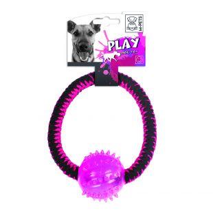 M-PETS Šunų žaislas susuktas žiedas įvairiaspalvis
