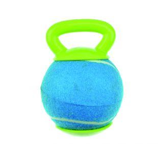 M-PETS Šunų teniso kamuoliukas su rankenėle mėlynas