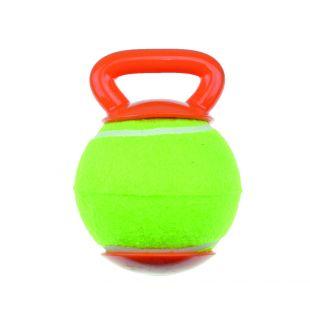 M-PETS Šunų teniso kamuoliukas su rankenėle žalias