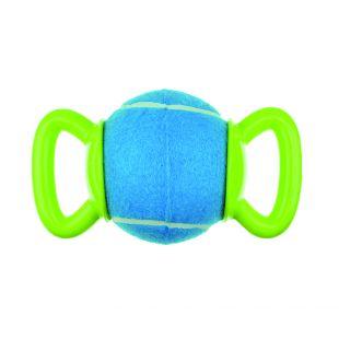 M-PETS Šunų teniso kamuoliukas su dviguba rankenėle mėlynas