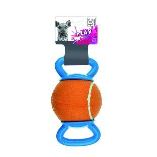 M-PETS Šunų teniso kamuoliukas su dviguba rankenėle oranžinis