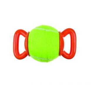 M-PETS Šunų teniso kamuoliukas su dviguba rankenėle žalias