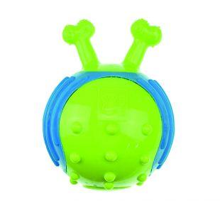 M-PETS Šunų guminis kamuoliukas su kaulo formos rankenomis žalias