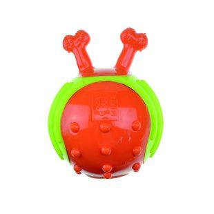 M-PETS Šunų guminis kamuoliukas su kaulo formos rankenomis oranžinis