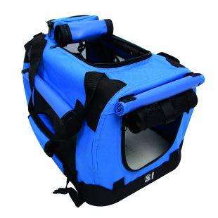 M-PETS Gyvūnų transportavimo krepšys mėlynas, XS, 41x28x28 cm