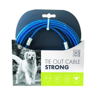 M-PETS Šunų plieninis trosas mėlynas, 6 m
