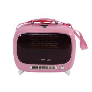 M-PETS Kačių transportavimo krepšys rožinis, 44.7x26.6x38.4 cm