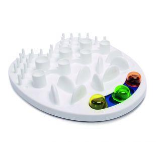 M-PETS Gyvūnų lėto valgymo dubenėlis, IRIS interaktyvus, baltas