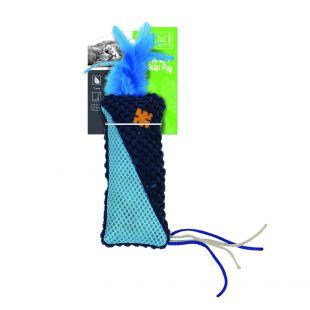M-PETS Kačių žaislas su plunksnomis, HERBY su katžole, 15x7x1.5 cm