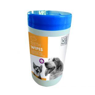 M-PETS Gyvūnų dantų priežiūros servetėlės antibakterinės, 40 vnt.