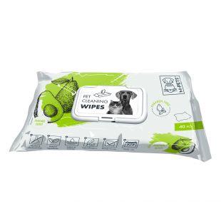 M-PETS Gyvūnų priežiūros servetėlės avokado kvapo, 40 vnt