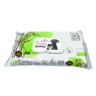 M-PETS Gyvūnų priežiūros servetėlės biologiškai suyrančios, 40 vnt