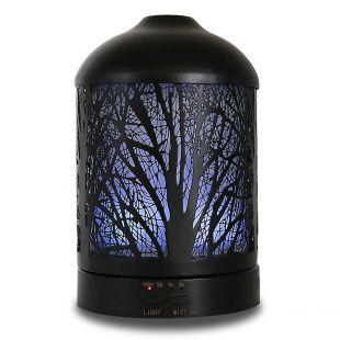 A'SCENTUALS Ultragarsinis difuzorius A'SCENTUALS 100 ml talpos, su medžių motyvais, juodas
