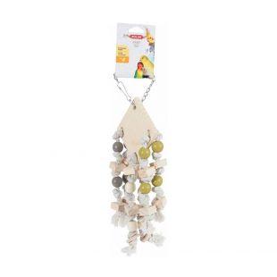 ZOLUX Žaislas paukščiams medinis, pakabinamas, 5x14x35cm, įvairių spalvų