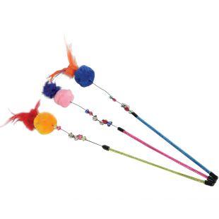 ZOLUX Žaislas - meškerė katėms Pompon įvairių spalvų