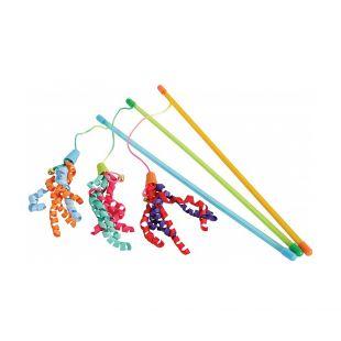 ZOLUX Žaislas - meškerė katėms Ribbon įvairių spalvų