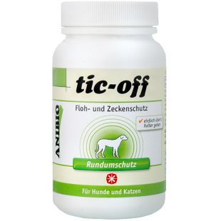 ANIBIO Tic-off šunų ir kačių pašaro papildas, saugantis nuo erkių ir blusų 140 g