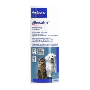ALLERCALM šampūnas šunų ir kačių normaliai ar sausai, jautriai ir dirgliai odai bei kailiui plauti, 250 ml