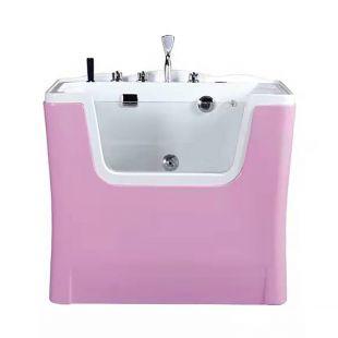 TAURO PRO LINE Ozono vonia gyvūnams, su MILK SPA programa, rožinė ir balta