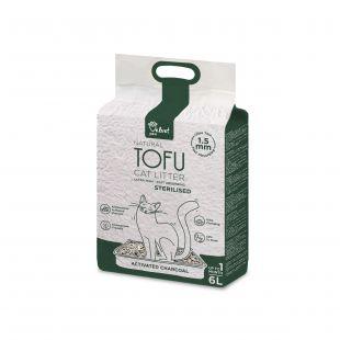 VELVET PAW TOFU kraikas sterilizuotoms katėms, su kokoso anglimi, 1,5 mm granulės