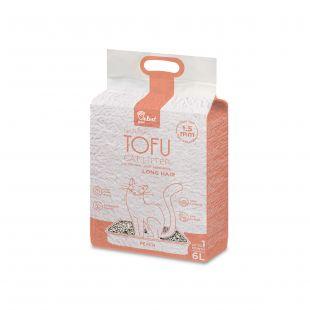 VELVET PAW TOFU kraikas ilgaplaukėms katėms, su persiko ekstraktu, granulės, 1,5 mm granulės