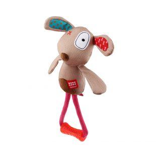 GIGWI Šunų žaislas Šuo su kramtuku, pliušinis, cypiantis, smėlinis