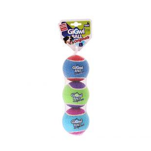 GIGWI Šunų žaislų rinkinys Teniso kamuoliukai L, 3 vnt