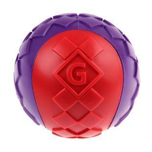 GIGWI Šunų žaislas Kamuolys cypiantis, raudonas, L