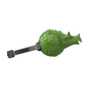 GIGWI Šunų žaislas Raganosis guminis,  cypiantis, žalias