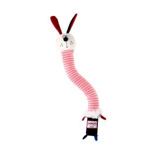 GIGWI Šunų žaislas Triušis cypiantis, rožinis