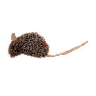 GIGWI Kačių žaislas Pelė pliušinė su katžole, pilkas