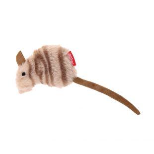 GIGWI Kačių žaislas Pelė pliušinė su katžole, rudas