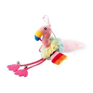GIGWI Kačių žaislas Flamingas su varpeliu ir katžole