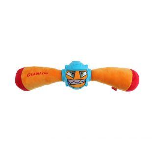 GIGWI Šunų žaislas-kramtukas Gladiatorius cypiantis, geltonas