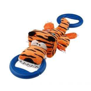 GIGWI Šunų žaislas Tigras su žiedais, pliušinis, oranžinis