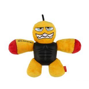 GIGWI Šunų žaislas Gladiatorius cypiantis, geltonas