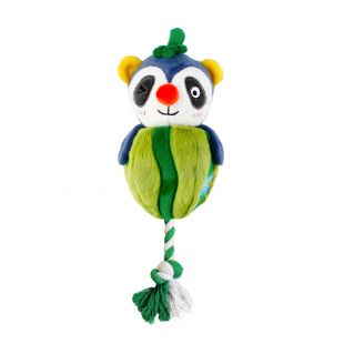 GIGWI Šunų žaislas Meškėnas su virve, cypiantis