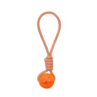 MISOKO&CO Šunų žaislas virvė su kamuoliuku, oranžinis