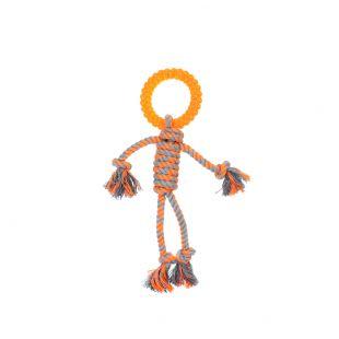 MISOKO&CO Šunų žaislas žmogeliukas , oranžinis