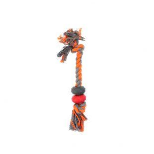 MISOKO&CO Šunų žaislas virvė su žiedais, oranžinis
