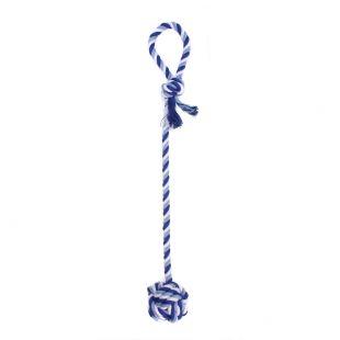 MISOKO&CO Šunų žaislas virvė su kamuoliuku, mėlynas