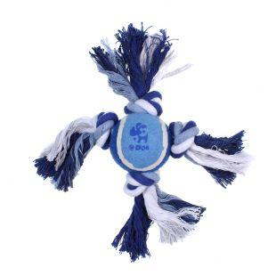 MISOKO&CO Šunų žaislas kamuoliukas su mazgais, mėlynas