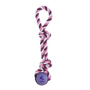 MISOKO&CO Šunų žaislas virvė su kamuoliuku, violetinis