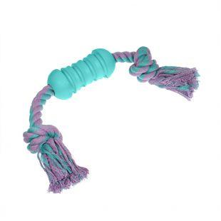 MISOKO&CO Šunų žaislas guminis su virve, žydras