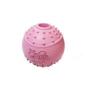 MISOKO&CO Šunų žaislas guminis kamuolys, rožinis