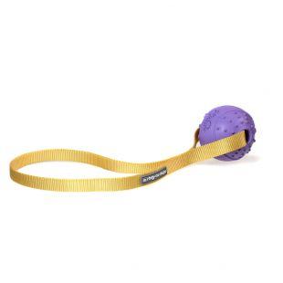 MISOKO&CO Šunų žaislas kamuolys su dirželiu, violetinis