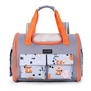PAW COUTURE Gyvūnų pernešimo krepšys, 40x22x30 cm,  pilkas