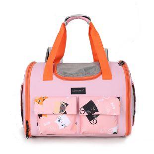 PAW COUTURE Gyvūnų pernešimo krepšys, 40x22x30 cm,  rožinis